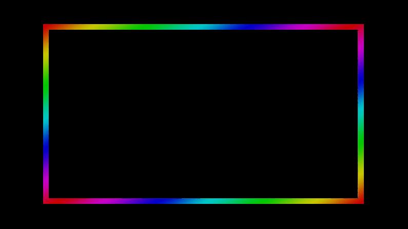Free Rainbow Webcam Overlay 16:9 | Color Stream Graphics