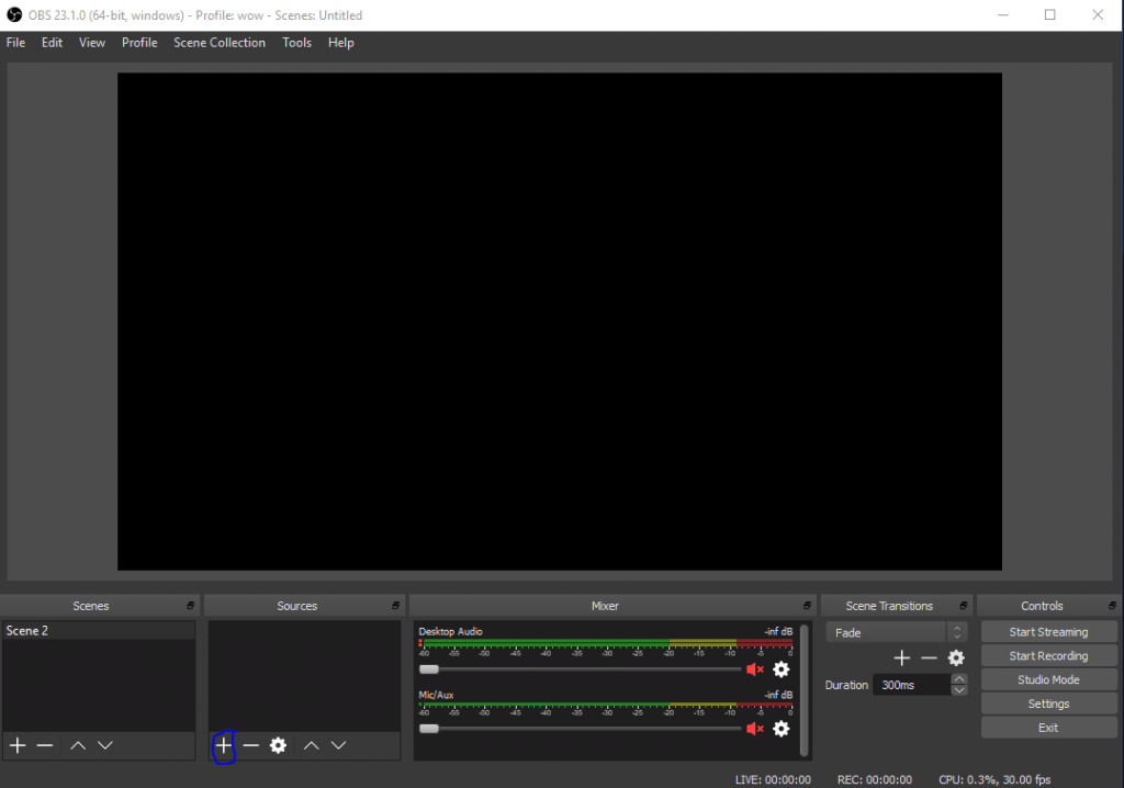 OBS how to add sources