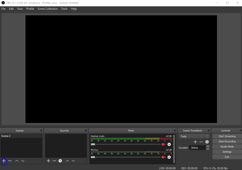 how to add a screne in OBS