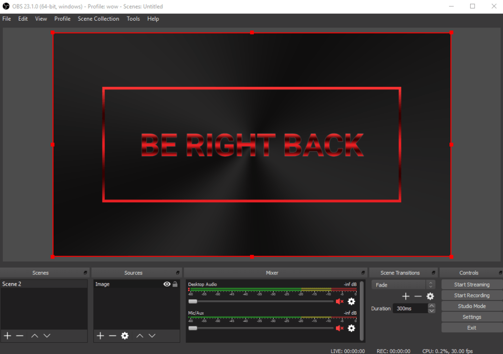 how to add a stream screen in OBS