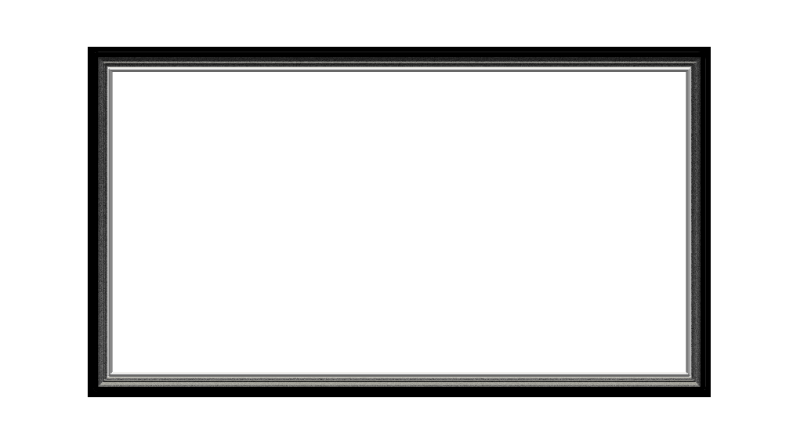 Black Metal Webcam Overlay 16:9