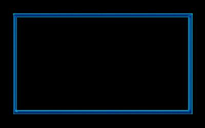 Sapphire Blue Webcam Overlay 16:9